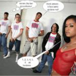 Mulatta spompina sei ragazzi inglesi – Fotoromanzo Porno – 04
